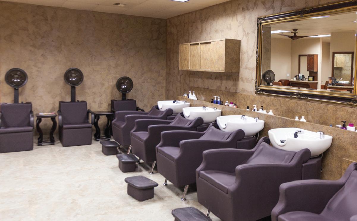 salon chairs and wash basins